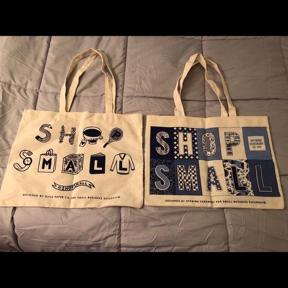 Handbags - 2 Shop Small Canvas Tote Bags